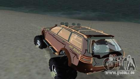 Audi Allroad Offroader pour GTA Vice City vue arrière
