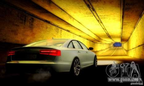 Audi A6 2012 pour GTA San Andreas vue de dessous