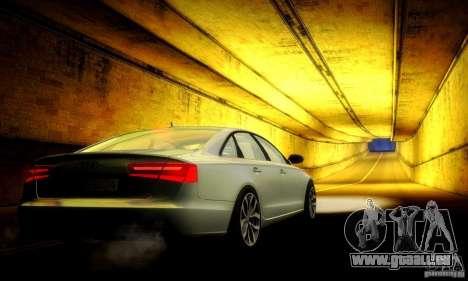 Audi A6 2012 für GTA San Andreas Unteransicht