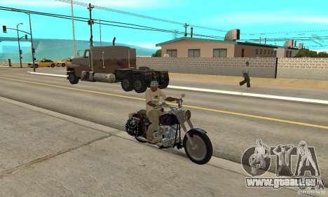 Harley Davidson FLSTF (Fat Boy) v2.0 Skin 4 pour GTA San Andreas vue de droite