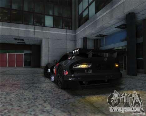 SRT Viper GTS-R V1.0 pour GTA San Andreas vue arrière