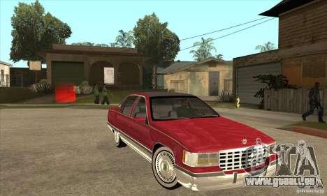 Cadillac Fleetwood 1993 pour GTA San Andreas vue arrière