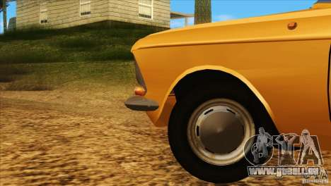 Moskvitch 412 v2.0 pour GTA San Andreas vue de dessus