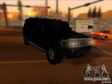 Hummer H3 pour GTA San Andreas laissé vue