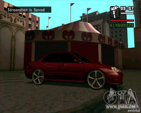 Subaru Impreza tuning pour GTA San Andreas laissé vue