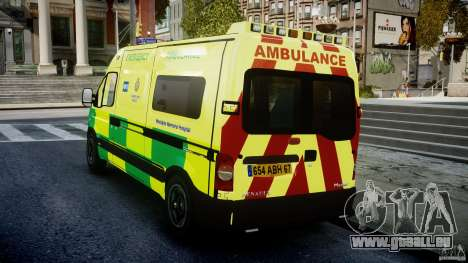 Renault Master 2007 Ambulance Scottish [ELS] für GTA 4 hinten links Ansicht