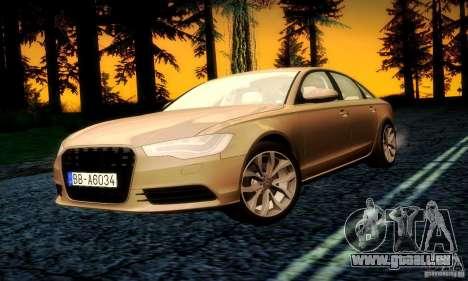 Audi A6 2012 pour GTA San Andreas moteur