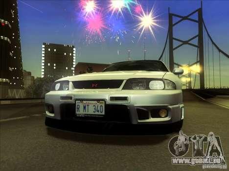 Nissan Skyline GTR BNR33 für GTA San Andreas zurück linke Ansicht