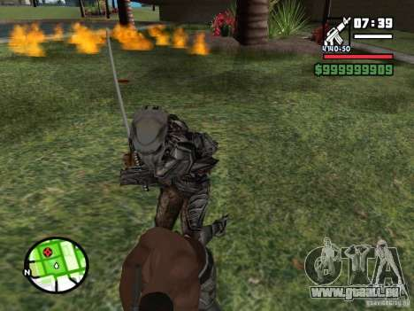 Predator pour GTA San Andreas cinquième écran
