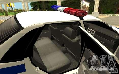 LADA Samara DPS 2170 pour GTA San Andreas sur la vue arrière gauche