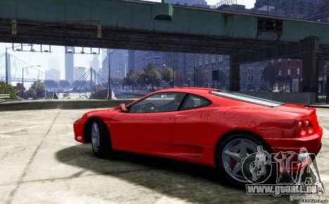 Ferrari 360 modena für GTA 4 hinten links Ansicht
