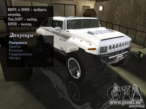 Hummer HX Concept from DiRT 2 pour GTA San Andreas vue de côté