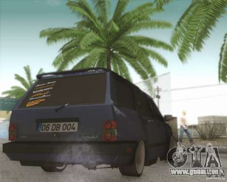 Tofas Kartal SLX für GTA San Andreas Rückansicht