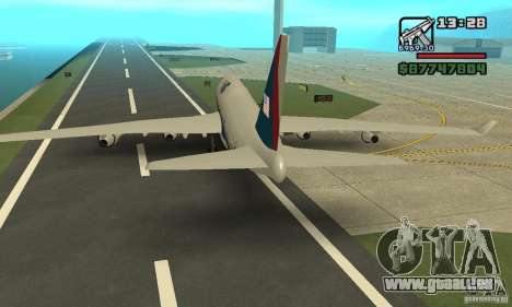 Avion de GTA 4 Boeing 747 pour GTA San Andreas vue de droite