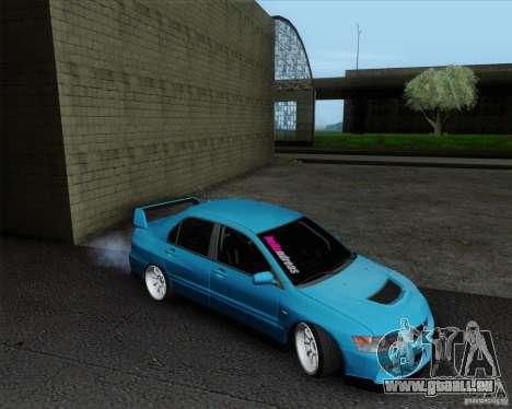 Mitsubishi Lancer Evolution VIII JDM Style für GTA San Andreas zurück linke Ansicht