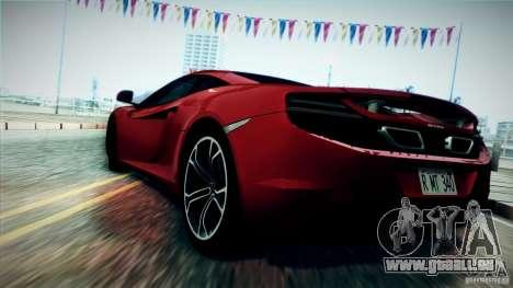 McLaren MP4-12C 2012 für GTA San Andreas zurück linke Ansicht