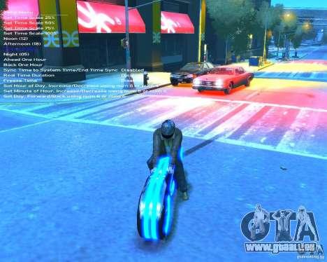Moto du trône (néon bleu) pour GTA 4 Vue arrière