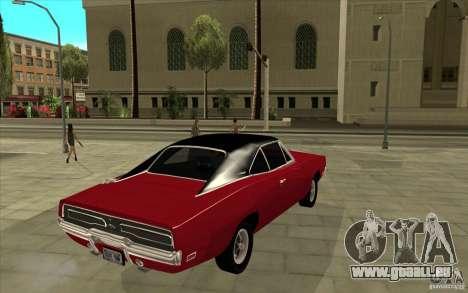 Dodge Charger R/T 1969 für GTA San Andreas rechten Ansicht