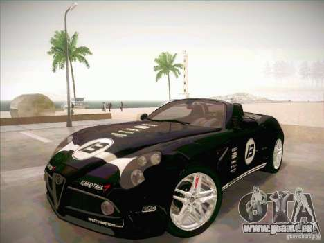 Alfa Romeo 8C Spider für GTA San Andreas Innenansicht
