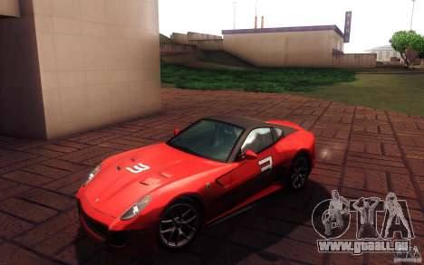 Ferrari 599 GTO 2011 pour GTA San Andreas vue intérieure