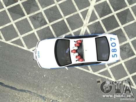 Chevrolet Impala NYCPD POLICE 2003 pour GTA 4 Vue arrière