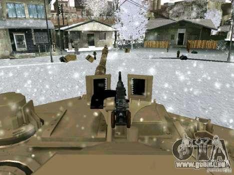 M1A2 Abrams de Battlefield 3 pour GTA San Andreas vue de côté