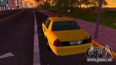 Ford Crown Victoria Taxi 2003 pour une vue GTA Vice City de la droite