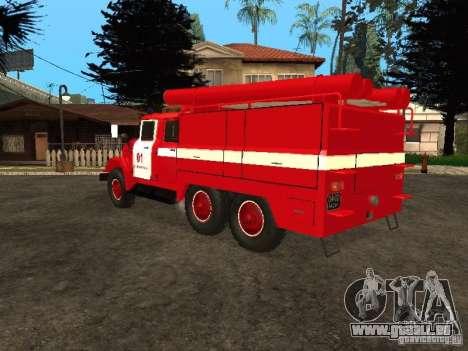 ZIL 131 Feuer für GTA San Andreas Rückansicht