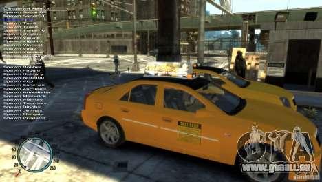 Cadillac CTS-V Taxi pour GTA 4 est un droit