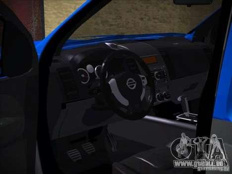 Nissan Frontier PMERJ pour GTA San Andreas vue de côté