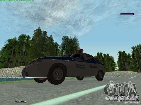 LADA 2112 DPS Police pour GTA San Andreas vue arrière