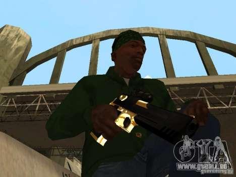 Pak Golden Waffen für GTA San Andreas her Screenshot