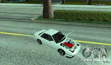 Nissan Silvia S13 Old School pour GTA San Andreas sur la vue arrière gauche