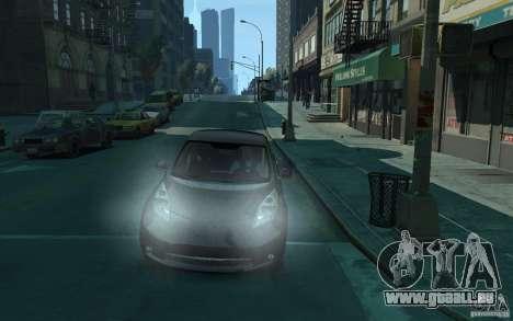 Nissan Leaf 2011 pour GTA 4 Vue arrière