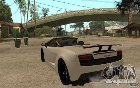 Lamborghini Gallardo LP570-4 pour GTA San Andreas sur la vue arrière gauche