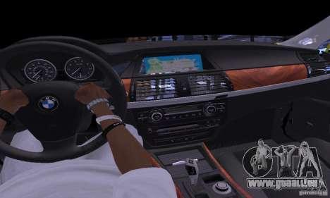 BMW X5M or pour GTA San Andreas vue intérieure