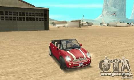 Mini Cooper Convertible pour GTA San Andreas