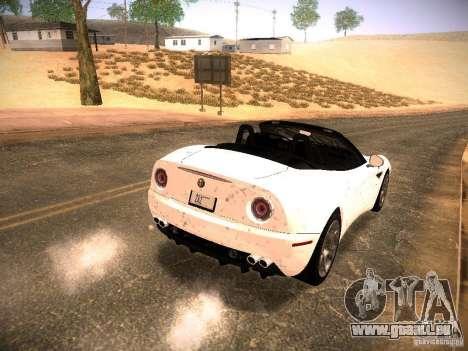 Alfa Romeo 8C Spider 2012 für GTA San Andreas Innen