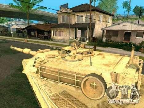 M1A2 Abrams de COD4: MW pour GTA San Andreas sur la vue arrière gauche