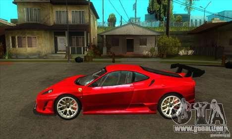 Ferrari F430 Scuderia 2007 FM3 für GTA San Andreas linke Ansicht