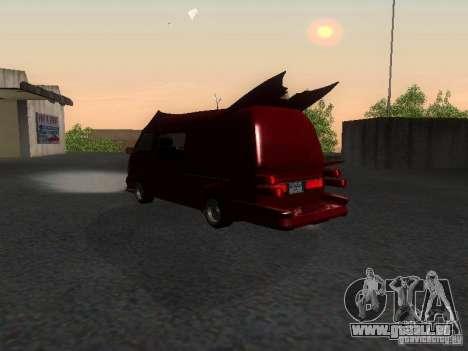 Toyota Hiace Vanning für GTA San Andreas zurück linke Ansicht