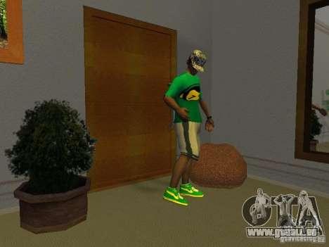 Neue grüne Laufschuhe für GTA San Andreas zweiten Screenshot