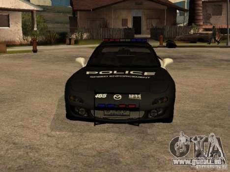 Mazda RX-7 Police für GTA San Andreas Rückansicht
