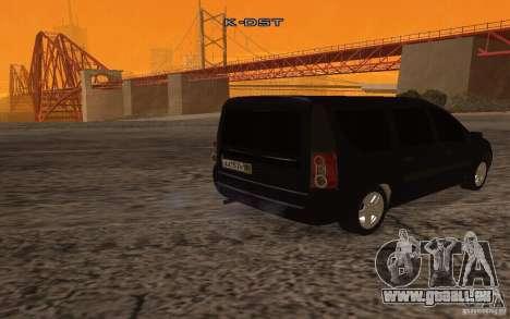 Lada Largus pour GTA San Andreas vue de droite