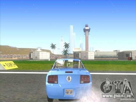 Ford Mustang Pony Edition pour GTA San Andreas sur la vue arrière gauche