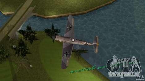 WW2 War Bomber pour GTA Vice City sur la vue arrière gauche