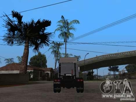MAZ 543205 Tuning pour GTA San Andreas sur la vue arrière gauche