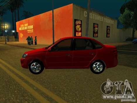 Lada 2190 Granta pour GTA San Andreas sur la vue arrière gauche
