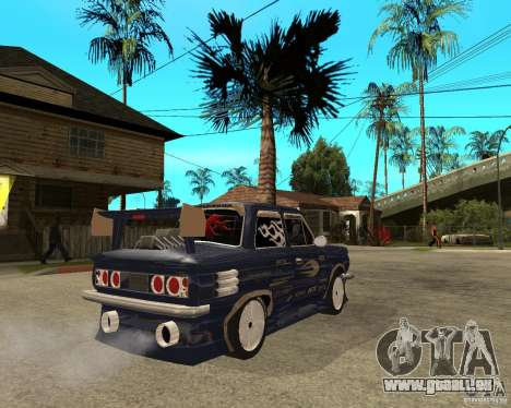 ZAZ-968 m STREET tune pour GTA San Andreas sur la vue arrière gauche
