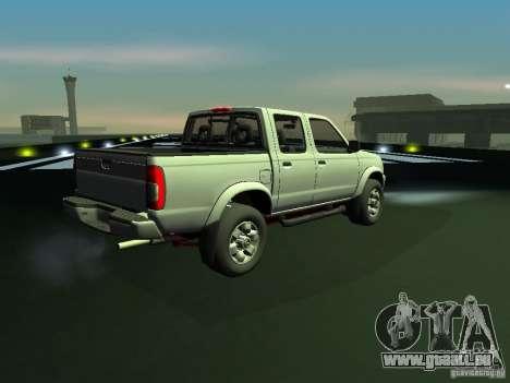 Nissan Frontier pour GTA San Andreas sur la vue arrière gauche
